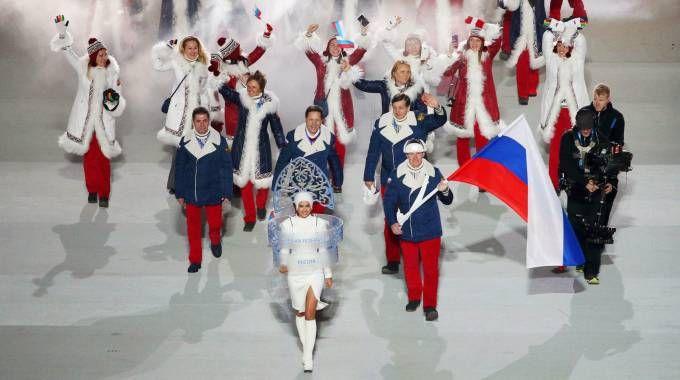 La cerimonia di apertura di Sochi 2014 (Ansa)