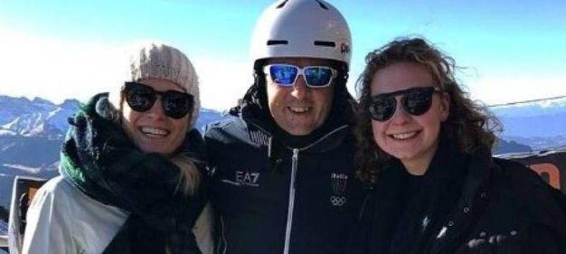Matteo Renzi con Anna e Helena Lageder