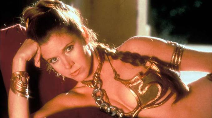 Carrie Fisher, Principessa Leila in Star Wars (Olycom)