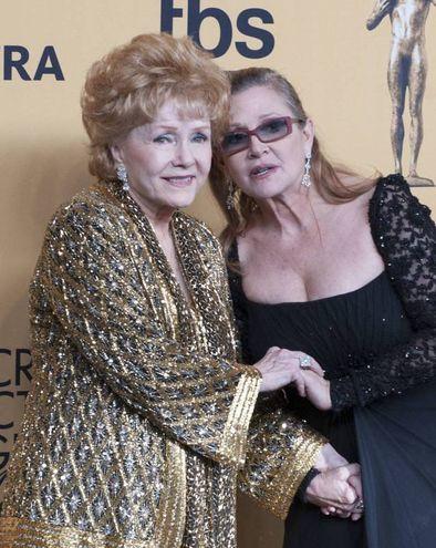 Debbie Reynolds e la figlia Carrie Fisher (Olycom)