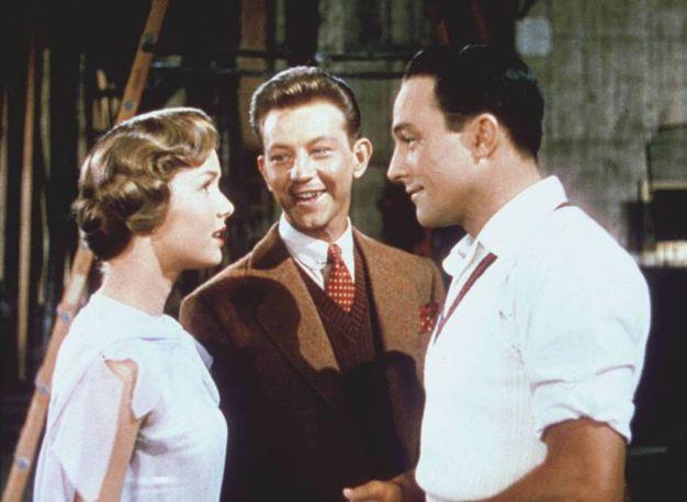 Debbie Reynolds con Gene Kelly e Donald O' Connor (Olycom)
