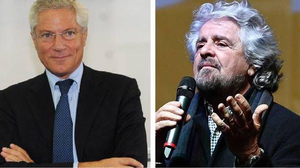Giovanni Pitruzzella e Beppe Grillo