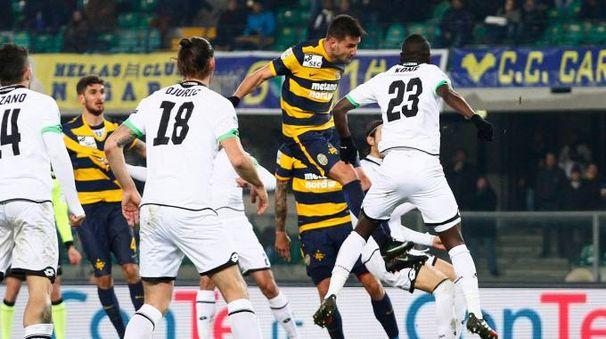 Il gol del 3-0 (foto LaPresse)