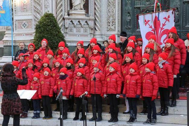 Il Piccolo coro del Melograno (Foto Marco Mori / New Press Photo)