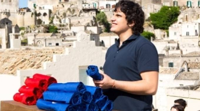 Valerio Braschi durante l'ultima puntata di Masterchef