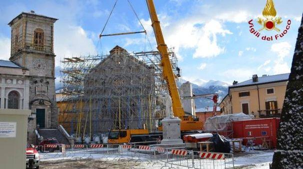 La basilica di Norcia