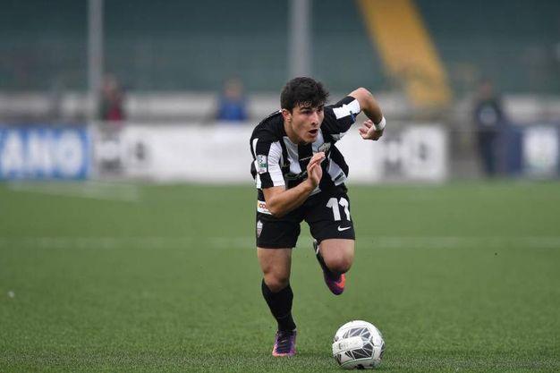 Riccardo Orsolini in Avellino-Ascoli (foto LaPresse)