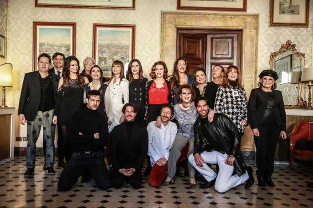 Il cast della quarta serie de 'Il bello delle donne' (LaPresse)