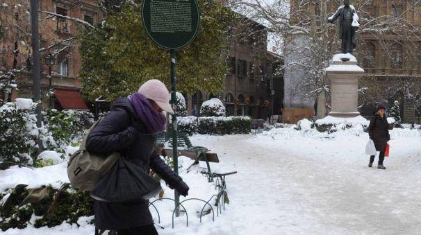Neve a Bologna in una foto d'archivio Schicchi