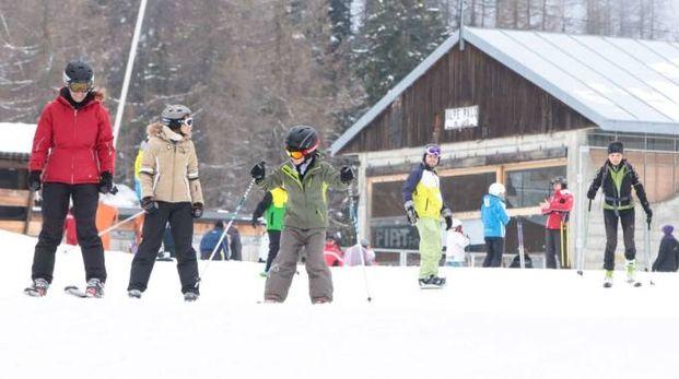 Sciatori in Valtellina