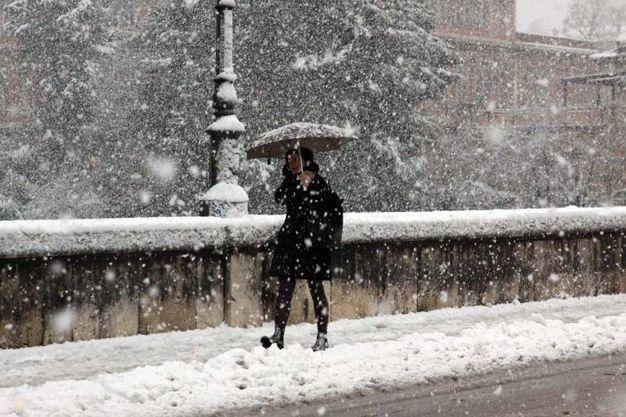 Ascoli sotto la neve (foto La Bolognese)
