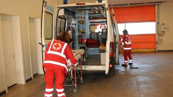 Un'ambulanza all'ospedale di Legnano