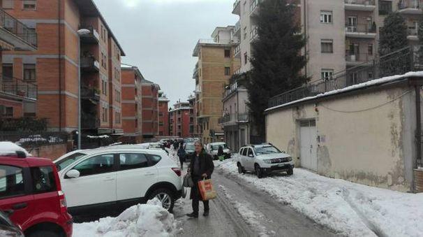 Terremoto 18 gennaio 2017, gente in strada