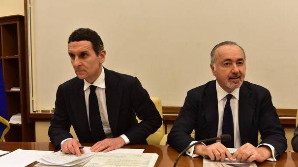 Mps, l'audizione al Senato dell'ad Morelli e del presidente Falciai (Imagoeconomica)