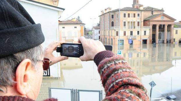Uno scatto dell'alluvione che ha interessato Bomporto e Bastiglia
