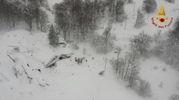 L'hotel Rigopiano sotto la neve