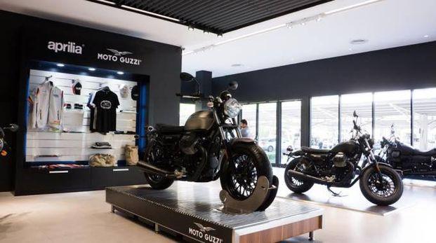 Uno store della Moto Guzzi