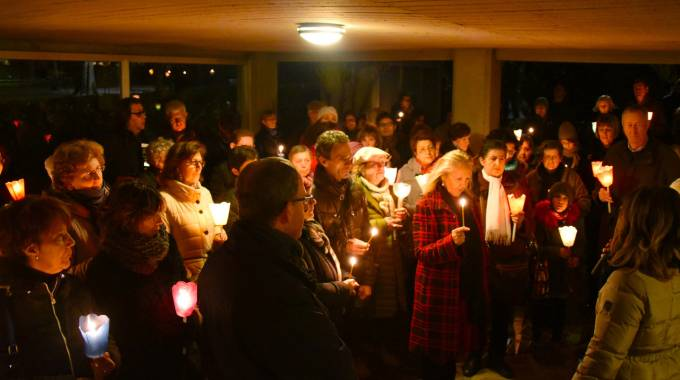 La fiaccolata del quartiere, organizzata il 23 dicembre