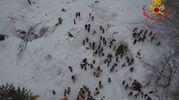 Rigopiano, i soccorsi visti dal drone (LaPresse)