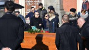 Il funerale di Salvatore Vincelli e Nunzia Di Gianni (Ansa)