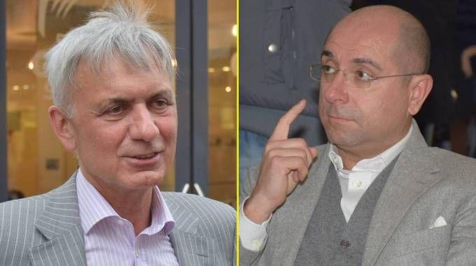 A sinistra Pier Ezio Ghezzi, a destra Carlo Barbieri