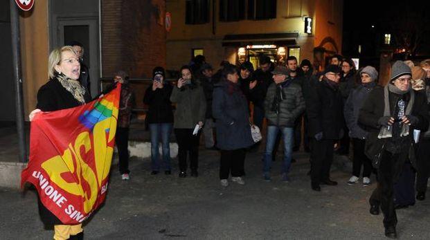 Protesta Usb all'ospedale Cantù di Abbiategrasso