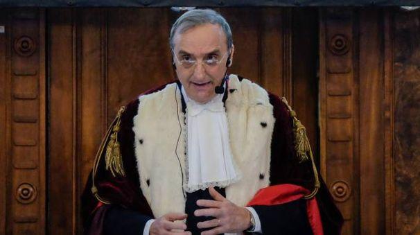 Il presidente della Corte d'Appello Giuseppe Colonna (Schicchi)