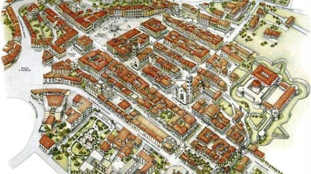 Cartina del centro storico di Sarzana (Foto Comune di Sarzana)