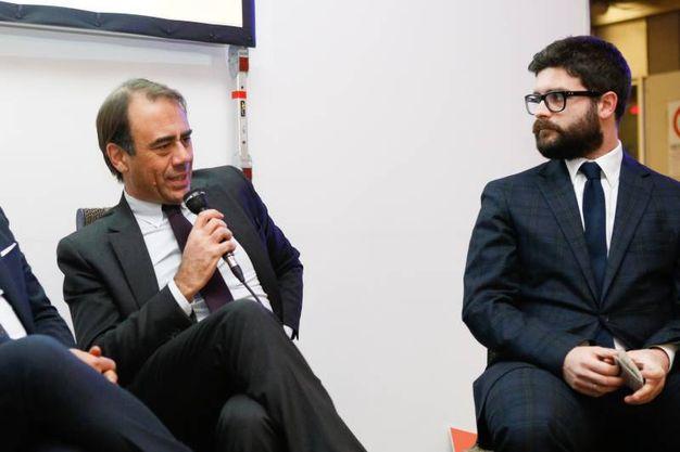 Il direttore del Resto del Carlino-Qn Andrea Cangini durante il suo intervento (foto Schicchi)