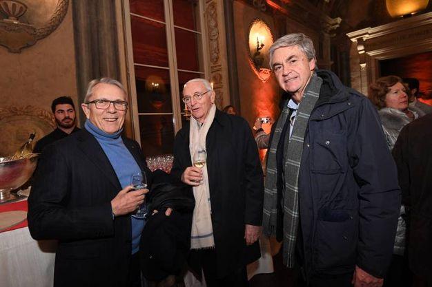 Arte Fiera, la White night alla Meridiana di galleria Cavour: Franco Boni con i Sassoli De Bianchi (foto Schicchi)
