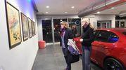 Arte Fiera, alcune delle opere artistiche esposte alla concessionaria Car in via Pietramellara (foto Schicchi)