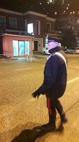 Un carabiniere (foto Di Marco)