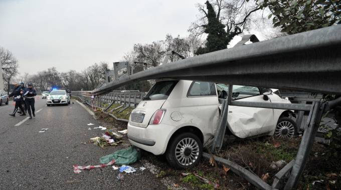 Incidente sul raccordo per l'autostrada (Newpress)