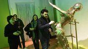 Ignazio Boschetto de Il Volo alla mostra Dalì Experience (Foto Schicchi)