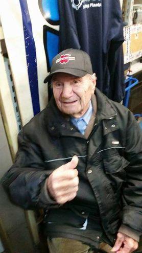 Primo Zanzani, 93 anni, in una recente immagine