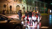 Ciack anche sui viali a porta Castiglione (LaPresse)