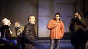 Morelli con Alessansdro Rossi (a destra) e Paolo Sassanelli  (LaPresse)