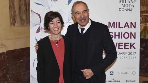 Il presidente Carlo Capasa e l'assessore Cristina Tajani (ImagoE)