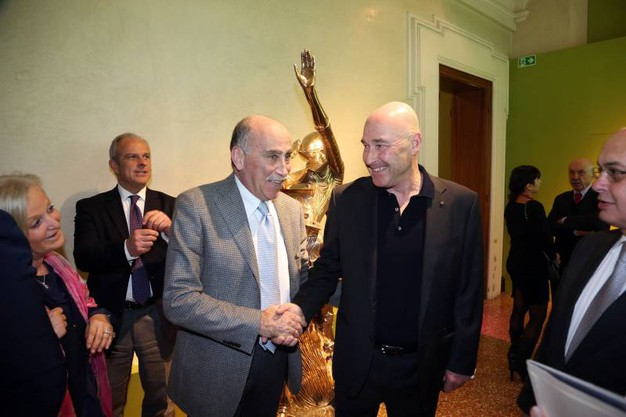 L'editore Andrea Riffeser Monti con Paolo Guelfi, direttore sanitario di Villalba (Schicchi)