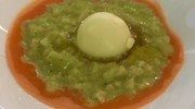 Ed ecco i piatti di Vincenzo Vottero: il 'Risotto Videoeggs' con uova di quaglia