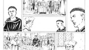 Una tavola di Filippo Cenni per il  fumetto sulla vita di Martin Lutero