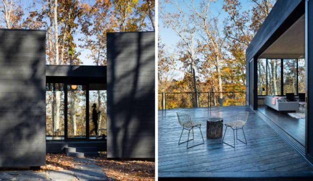una moderna casa di vacanza nel bosco magazine tempo