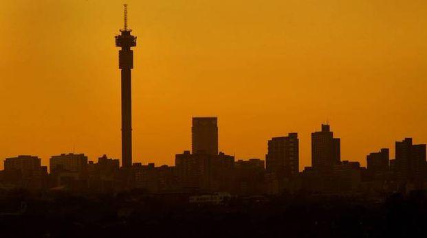 Lo skyline di Johannesburg