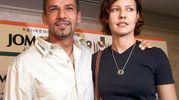 Con la moglie Andreina, sposata nel 1989: la coppia ha tre figli, Valentina, Mattia e Leonardo (Ansa)