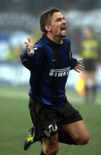 Il 25 novembre 1998 Baggio firma la vittoria in rimonta dell'Inter sul Real Madrid con una doppietta nei minuti finali (Ansa)