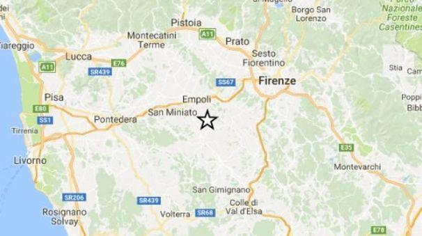 Terremoto, due lievi scosse a Castelfiorentino (Foto sito Ingv)