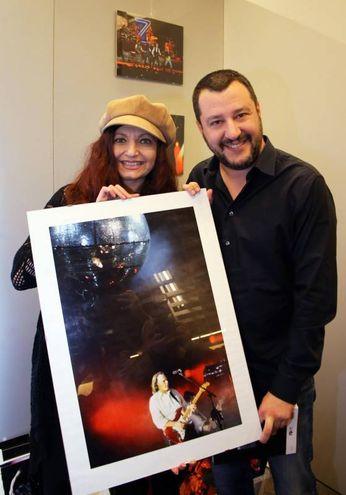 Matteo Salvini  a 'Libro Aperto'  alla  Fortezza da Basso (Marco Mori / New Press Photo)