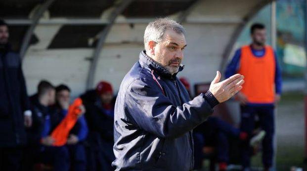 Ancona-Santarcangelo 0-0, la prima di Giovanni Pagliari (foto Emma)