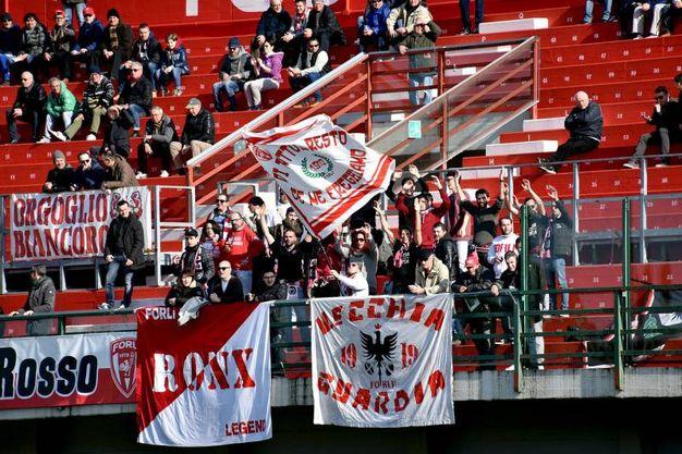 I tifosi del Forlì sugli spalti (foto Fantini)
