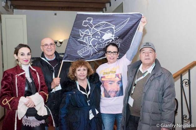 Carnevale di Cento, la famiglia Pantani (foto Gianfranco Nepitelli)